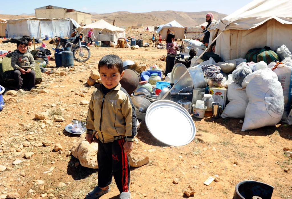 A Syrian refugee child who fled the violence from the Syrian town of Flita, near Yabroud.